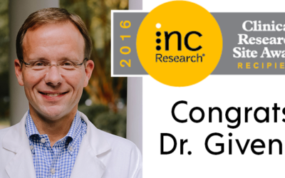 Dr. Ronnie Givens Recognized for Clinical Research Excellence